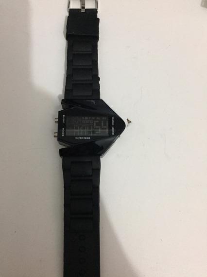 Relógio Digital Futurista - Acende Vermelho