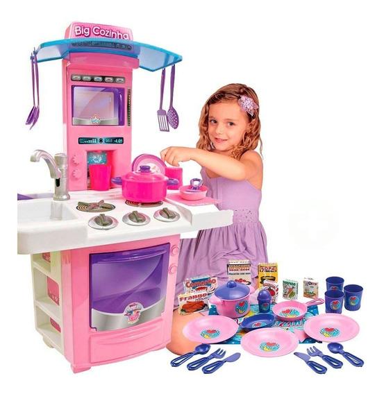 Super Cozinha Infantil Big Star + Kit Meu Jantarzinho Sucess