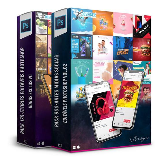 Pack 900-artes Mídias Sociais Editáveis Photoshop Vol.02