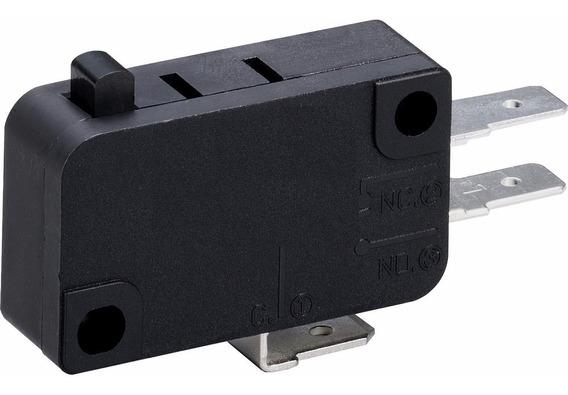Chave Micro Switch 15 Amperes 250 Volts Cor Preta