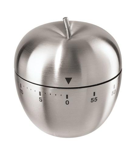 2 Pçs Timer Temporizador Cozinha Maça Em Aço Inox