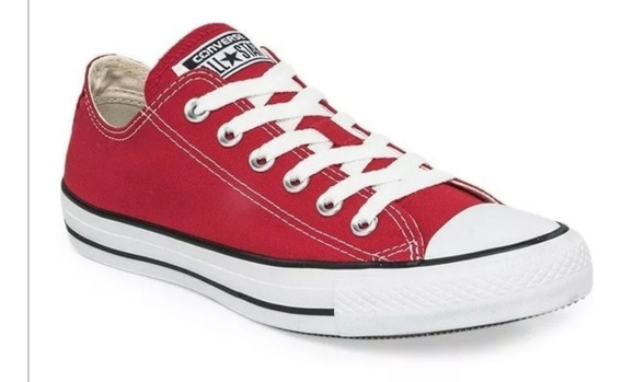 Zapatillas Converse Rojo Y Blanco Disponible Del 39 Al 44