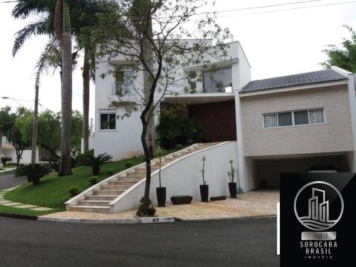 Espetacular Sobrado Com 4 Dormitórios À Venda, 500 M² Por R$ 2.800.000 - Condomínio Lago Da Boa Vista - Sorocaba/sp, Próximo Á Padaria Real. - Ca00069 - 67650829