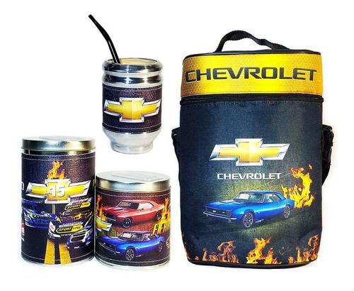 Imagen 1 de 5 de Equipo De Mate Sin Termo Chevrolet Cuero Kit Set Matero