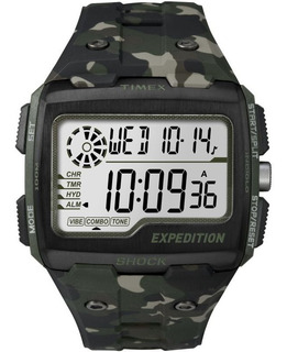 Reloj Timex Expedition Grid Shock Tw4b02900 Verde Camuflado