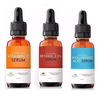 Trio Petúnia (vitamina C, Retinol,hialurônico)