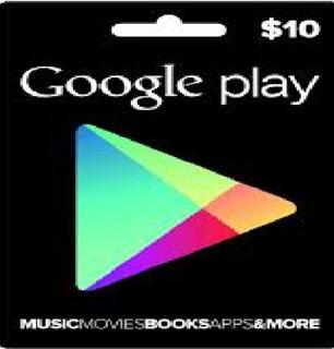Tarjetas Google Play 10 Usd Entrega Inmediata