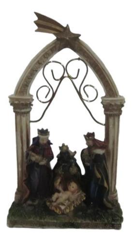 Imagen 1 de 5 de Pesebre Candelabro Santini Estilo Italiano Los Reyes Magos