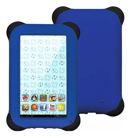 Tablet Kids Nb194 Azul Quad Core Dual Câm Wi-fi 7