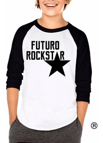 Envío Gratis Playera Raglan Para Niño Futuro Rockstar