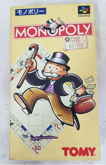 Monopoly - Banco Imobiliário Nintendo Super Famicon Snes Jp