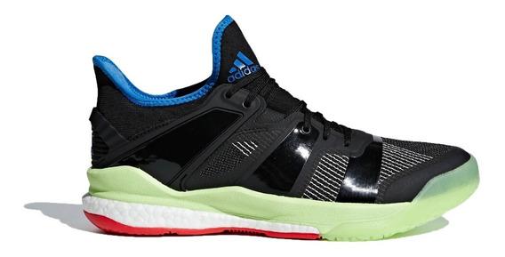 adidas Zapatillas Handball Hombre Stabil X Negro-azul-verde