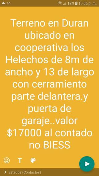 Terreno 8 M De Ancho Y 13 M De Largo