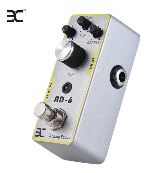 Eno Ex Ad -6 Guitarra Analog Delay Efeito Pedal Prata I3112
