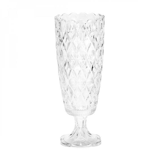 Vaso De Cristal Com Pé Angélica 15cmx39,5cm Rojemac Ff