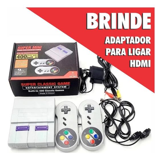 Super Nintendo Mini Classic Edition 400 Jogos De Infância