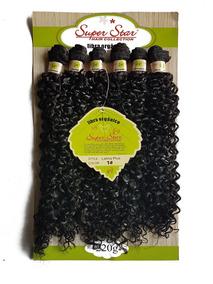 Cabelo Orgânico Mega Hair Cacheado Aplique 60cm 220g