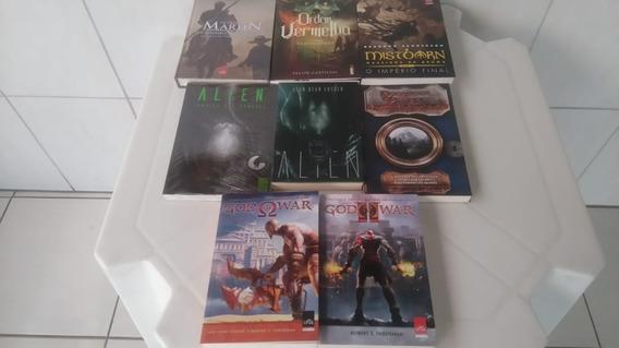 Kit C/8 Livros - God Of War, Alien - Vai Um Poster De Brinde