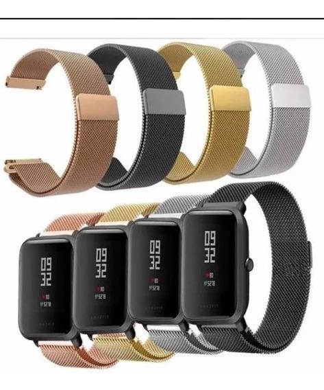 Pulseira Aço Milanese P/ Relógio Xiaomi Amazfit Bip (20mm)