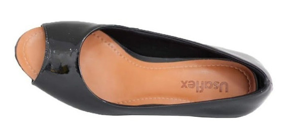 Sapato Confortável Usaflex No Verniz Preto 5601 Compre Já!