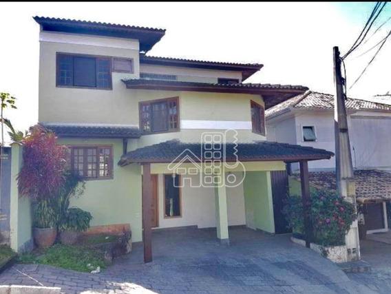 Casa Com 3 Dormitórios À Venda, 180 M² Por R$ 650.000,00 - Pendotiba - Niterói/rj - Ca1091