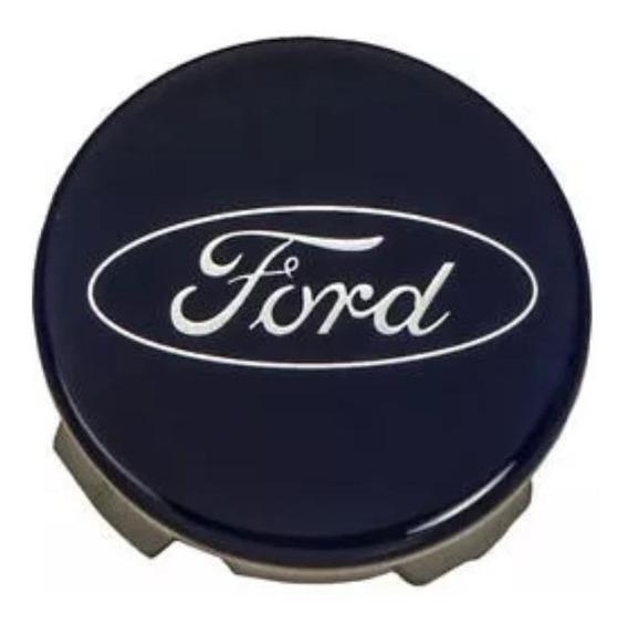Calota Azul 55mm Original Ford New Fiesta Be8z1130a