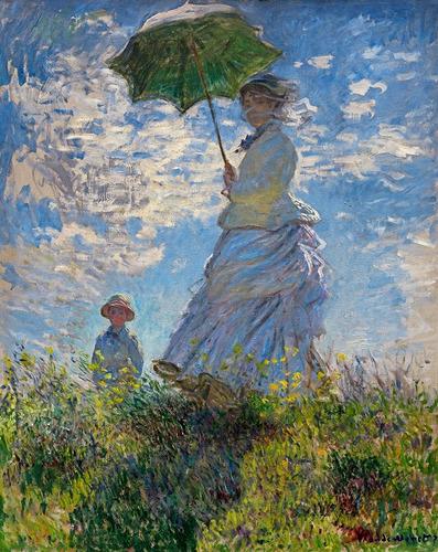 Lienzo Monet Mujer Con Sombrilla 50x62cm Canvas Tela