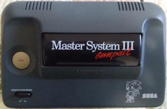 Master System 3 Só Console C/ Sonic Memória Botão Pause Ruim