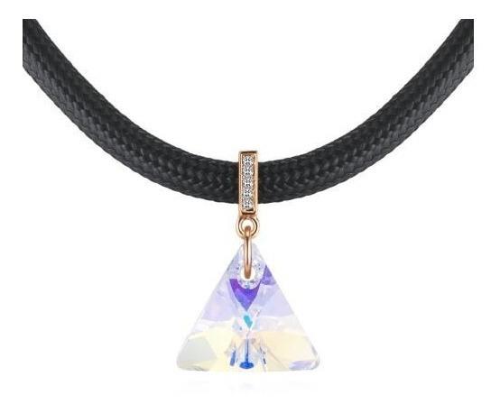 Collar Con Cristales, Amor De Cristal Ac18-174-oro Amarillo