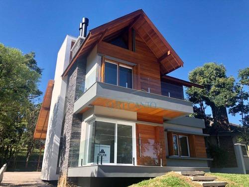 Casa Com 3 Dormitórios À Venda, 233 M² Por R$ 1.450.000,00 - Carniel - Gramado/rs - Ca0755