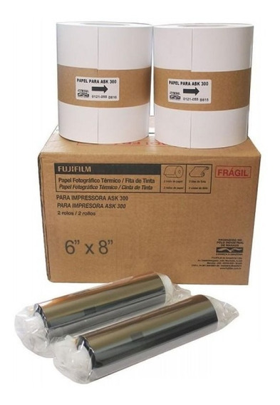 Kit Papel 10x15 Para Fuji Ask300 800 Copias