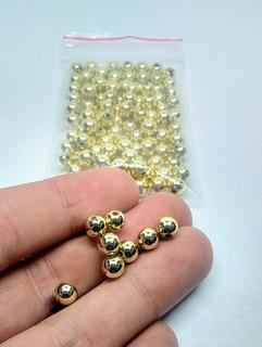 Bolsa 10 Gramos Balines Dorados Abs 6 Mm