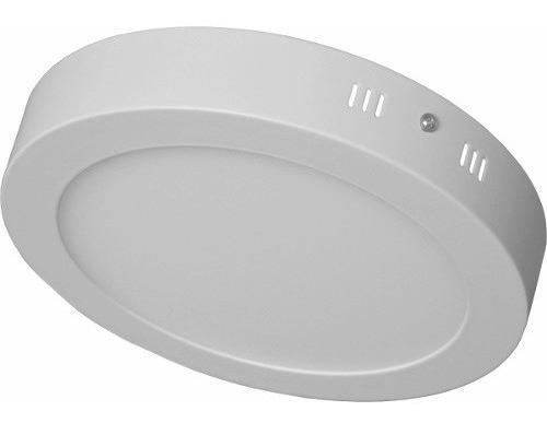 Painel Luminaria Plafon Led Sobrepor Redondo 12w Branco Frio