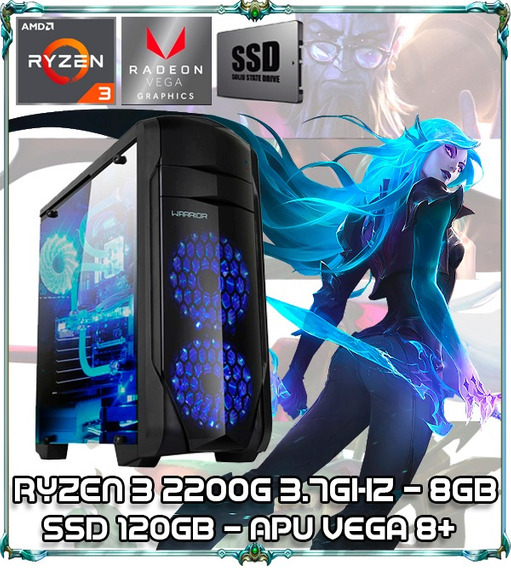 Cpu Gamer Ryzen 3 2200g Quad Core 3.7ghz 8gb Ssd120 Ga155