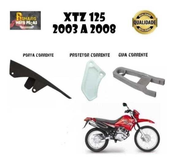 Guia Corrente Xtz 125 + Porta Corrente + Protetor