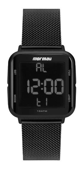 Relógio Mormaii Unissex Quadrado Preto Digital Mo6600ag/8p