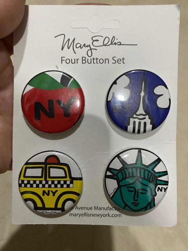 Ny City Button Set