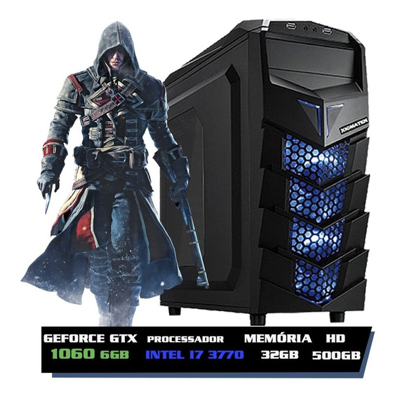 Pc Gamer I7, 32gb, Geforce 6gb 1060 Gtx, 500gb, Ssd 240gb + Nfe