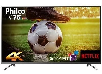 Smart Tv 75 Lcd Led Philco Ptv75e30dswnt 4k Uhd 3hdmi 2usb