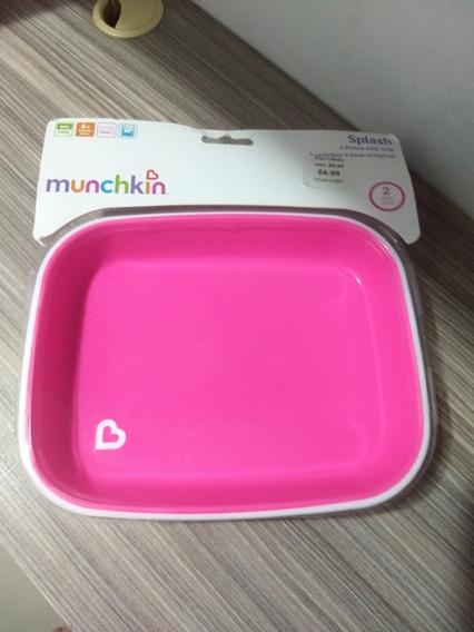 Conjunto De Pratos - (c/ 2 Un) - Munchkin - Rosa E Roxo