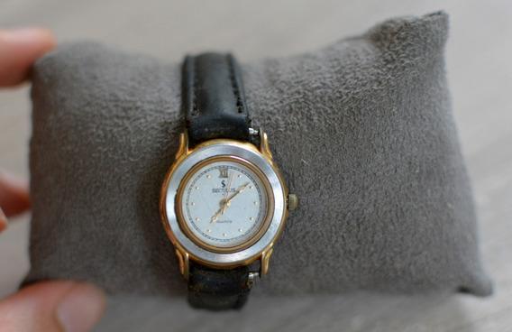 Relógio Seculus Feminino Antigo Original Pulseira Em Couro