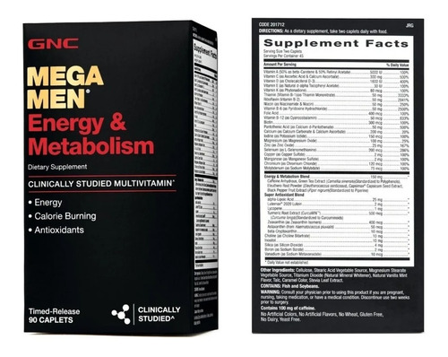 Mega Men Energy & Metabolismo 90 Ta - Unidad a $888