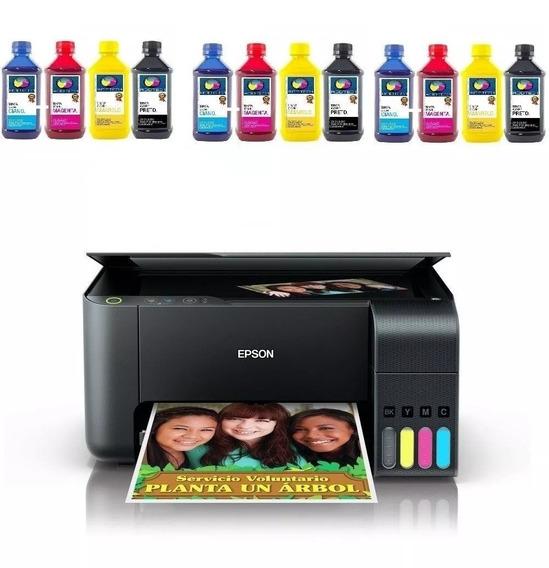 Impressora Epson L3110 Ecotank + 12 Refil Tinta Sublimatica