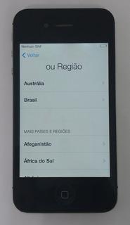 1° iPhone 4s 16gb Preto Original Com Defeito Sem Garantia