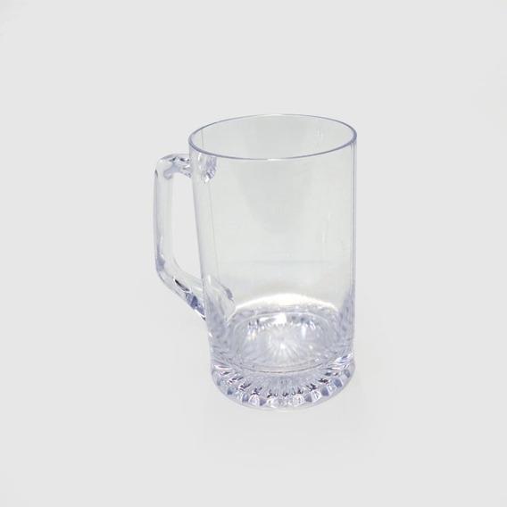 Chop Recto Cerveza Plastico Facetado Cristal