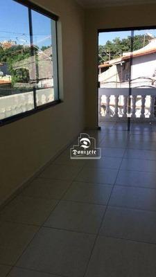 Casa Com 2 Dormitórios Para Alugar, 110 M² Por R$ 1.200/mês - Jardim Las Vegas - Santo André/sp - Ca0829