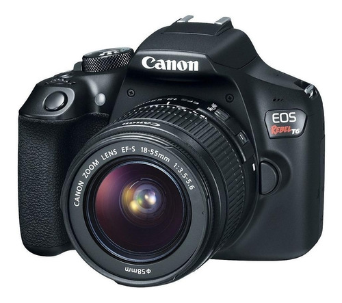 Canon EOS Rebel T6 18-55mm IS II Kit DSLR cor preto