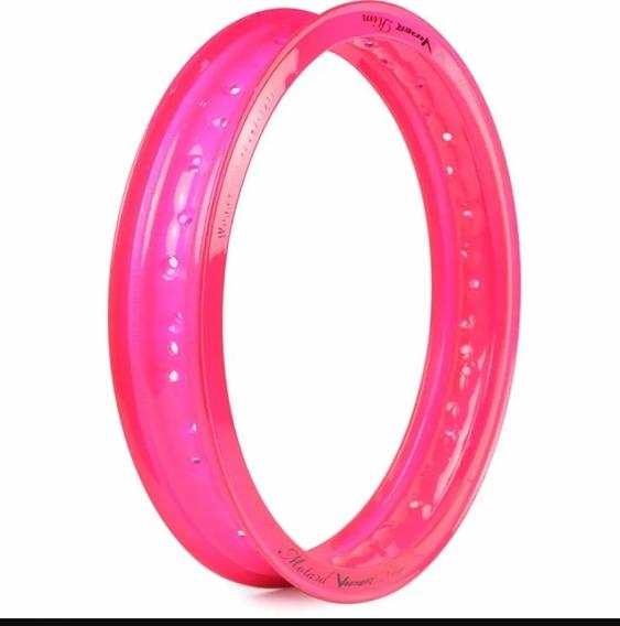 Aro Alumínio Motard 1.85x17 Viper Biz Pop Pink Neon