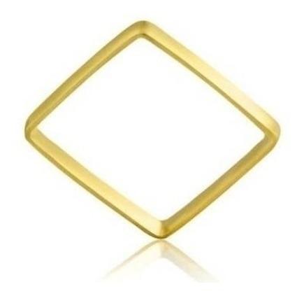 Anel Da Xuxa Modelo Quadrado Em Ouro Amarelo 18k