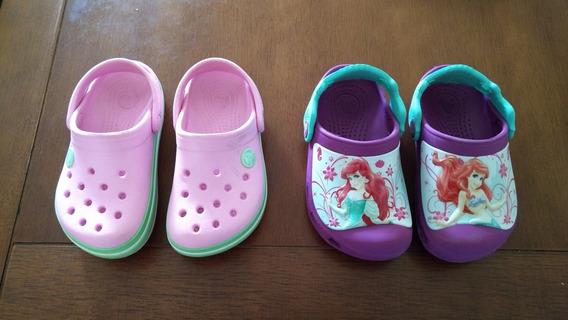 Lote Sandalias Crocs Femininas Princesas